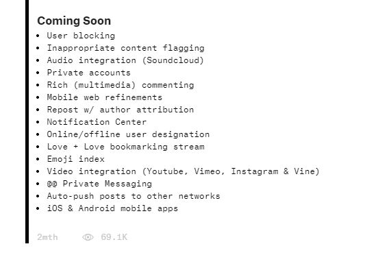 ello coming soon features