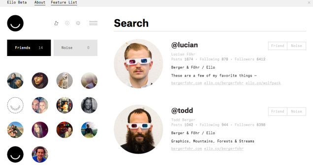 ello user profile