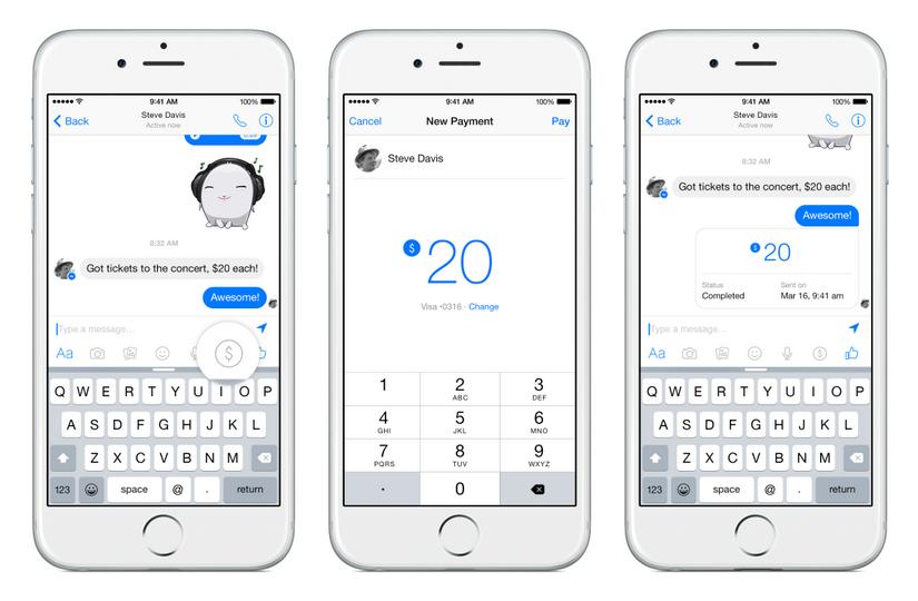 Facebook ne scapa de plati online: vom face transfer de bani prin Facebook Messenger
